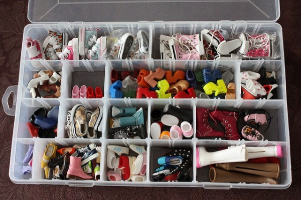 Barbie Shoe Organization