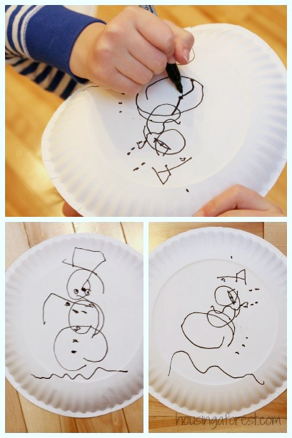 christmas party games for kids snowman drawing game