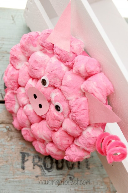 Cotton Ball Pig ~ Adorable Paper Plate crafts