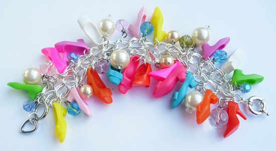 How to make a braclet using Barbie Shoes