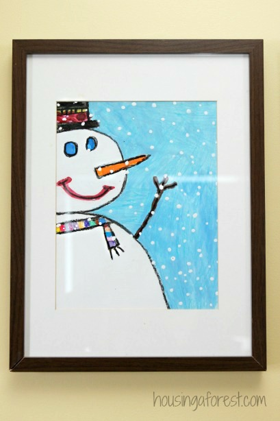 Painting Images For Kids Plain Winter Art Projects Snowman In