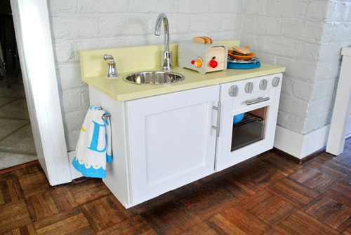 DIY Play Kitchen Ideas DIY Play Kitchen From A Kitchen Cabinet