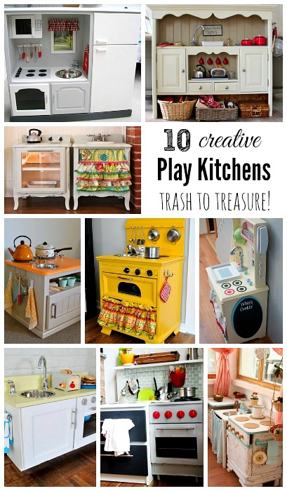 10 diy play kitchen ideas housing a forest 10 creative diy play kitchen ideas trash to treasure solutioingenieria Image collections