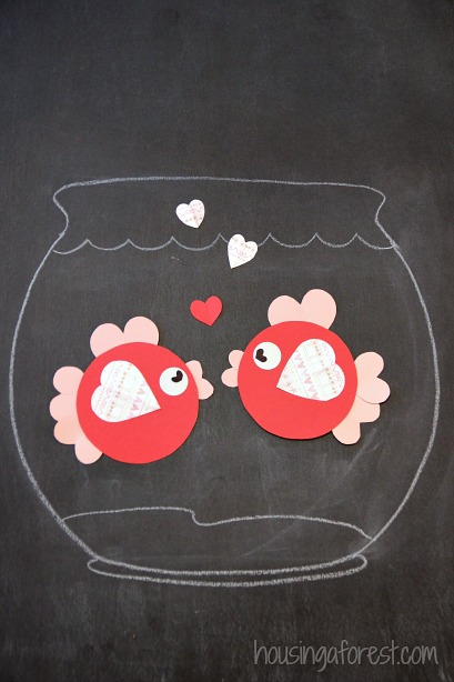 Image result for fish  made from hearts