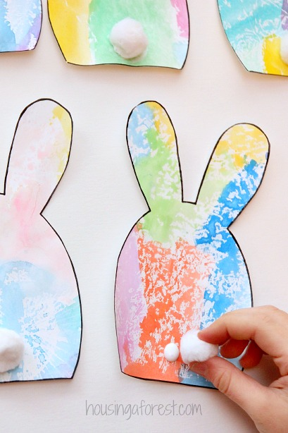 DIY Easter Decorations ~ Simple Bunny Garland