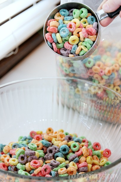 Fruit Loops Recipe Fruit Loops Recipe ~ Rainbow Squares.  Similar to traditional Rice Krispy Treats.~ Rainbow Squares