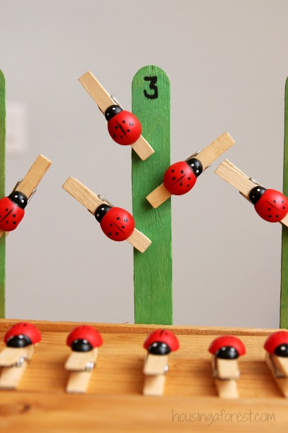 Ladybug Number Game for Preschoolers