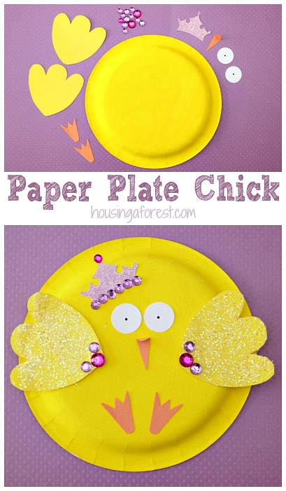 Paper Plate Chick ~ Easter Crafts for Toddlers