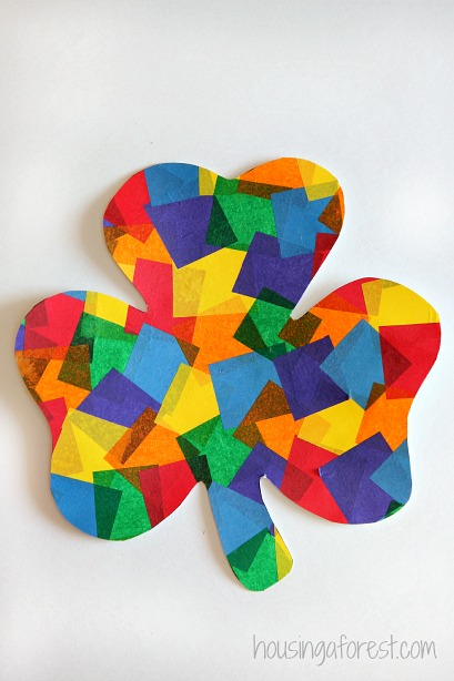 Rainbow Shamrock Craft ~ Easy toddler St Patricks Day Craft