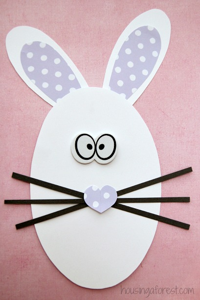 Shape Bunny Craft Easter Activity For Preschoolers