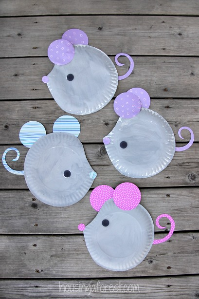 Paper Plate Mouse ~ Easy Kids Craft