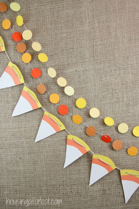 Easy Halloween Scissor Skills Activity ~ Candy Corn Craft