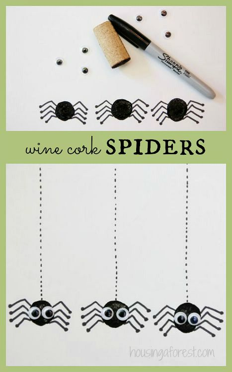 Wine Cork Spider ~ Halloween Craft