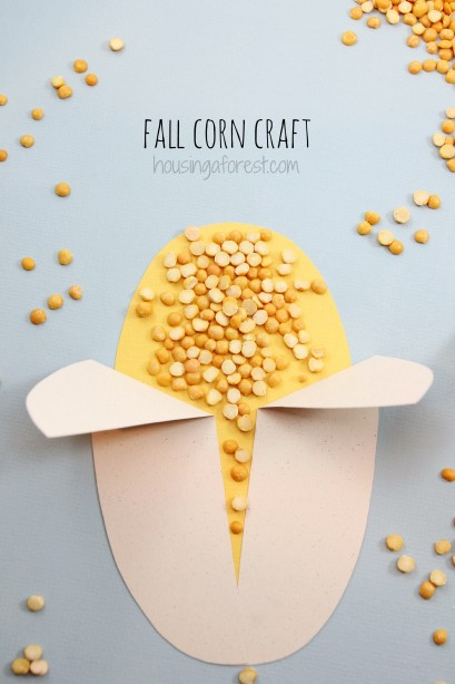 Corn Craft ~ Fall Crafts for Preschoolers