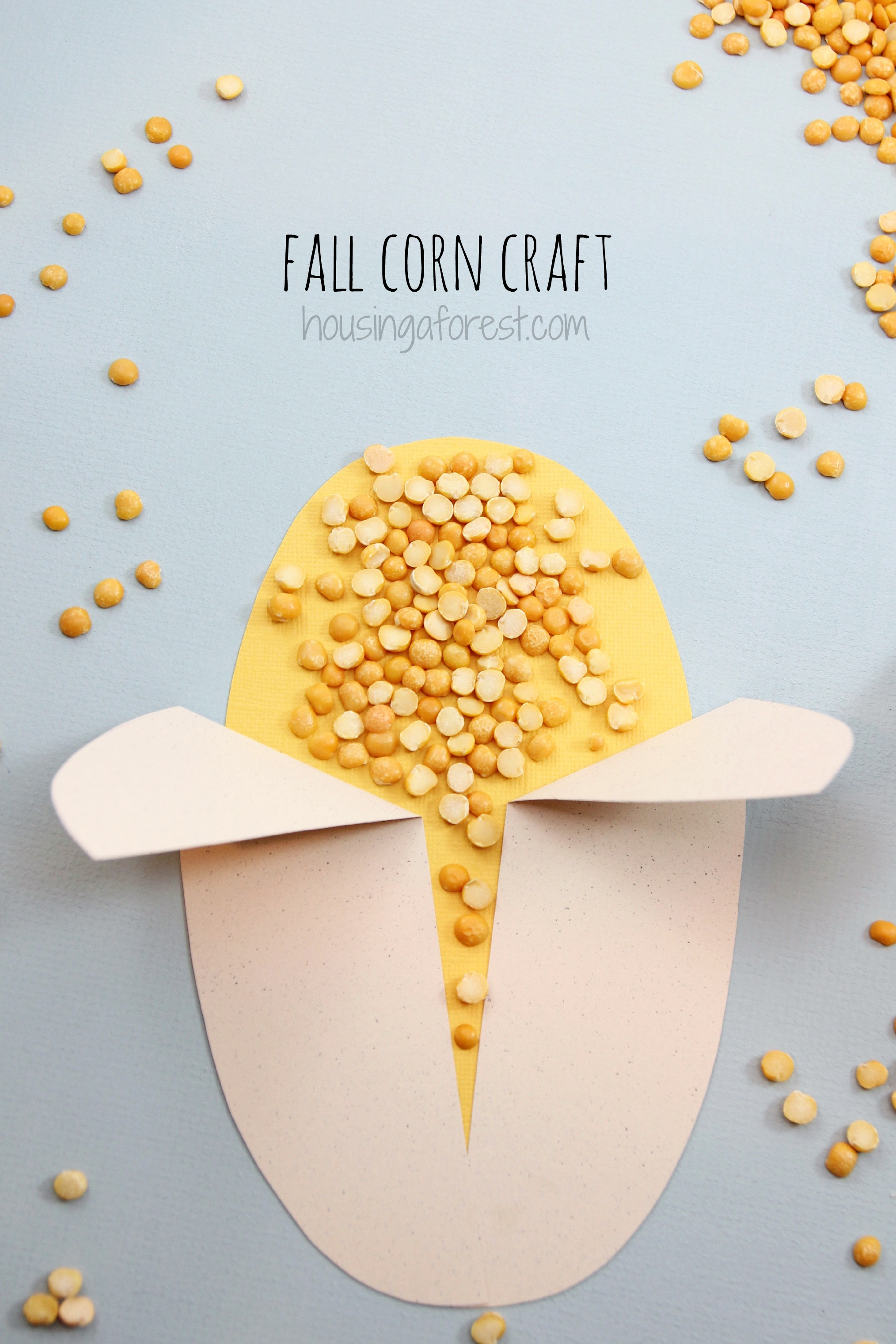 Easy corn craft housing a forest for Simply crafts