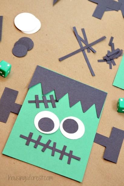 Halloween game for kids ~ Roll A Frankenstein