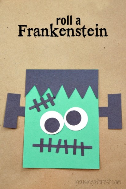 Halloween game for kids ~ Roll A Frankenstein