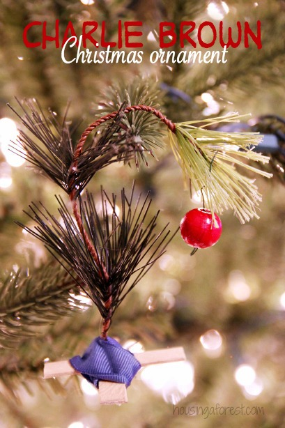 Charlie Brown Christmas Tree ~ DIY Kids Ornament