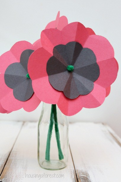 Remembrance Day Poppy Craft Flower
