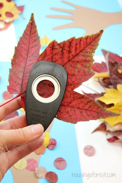 Kids Handprint Fall Tree Craft Housing A Forest