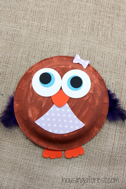 Paper Plate Owl ~ Easy kids craft & Paper Plate Owl | Housing a Forest