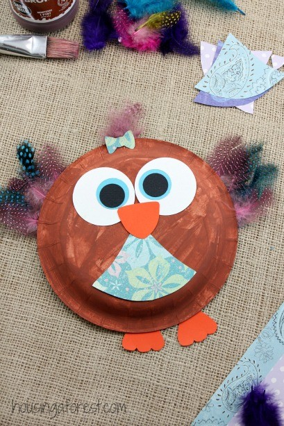 Paper Plate Owl ~ Easy kids craft