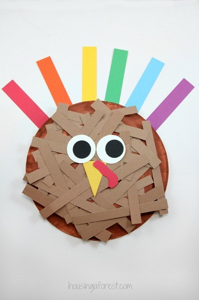 Thanksgiving Paper Plate Turkey Craft for Kids