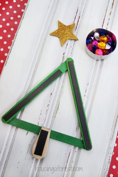 Popsicle Stick Christmas Tree Magnet Housing A Forest