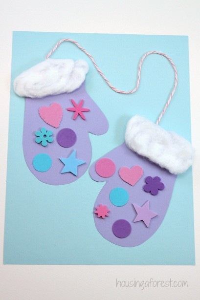 Winter Mitten Craft For Preschoolers Housing A Forest