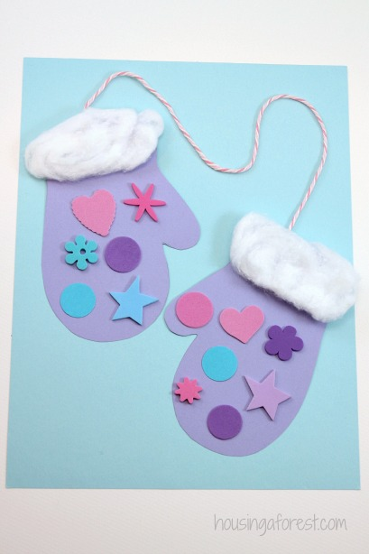 Preschool+Winter+Crafts Preschool Winter Mittens ~ Easy and ...