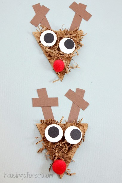 Reindeer Craft for Preschoolers ~ Shredded Paper Rudolph