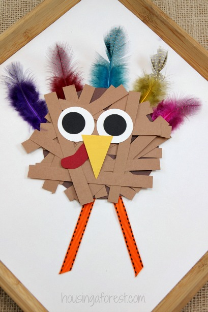 thanksgiving crafts for kids paper strip turkey - Pictures Of Turkeys For Kids 2