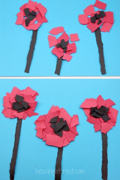 Easy Torn Paper Art Projects