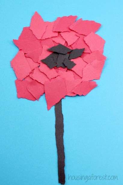 torn poppy craft