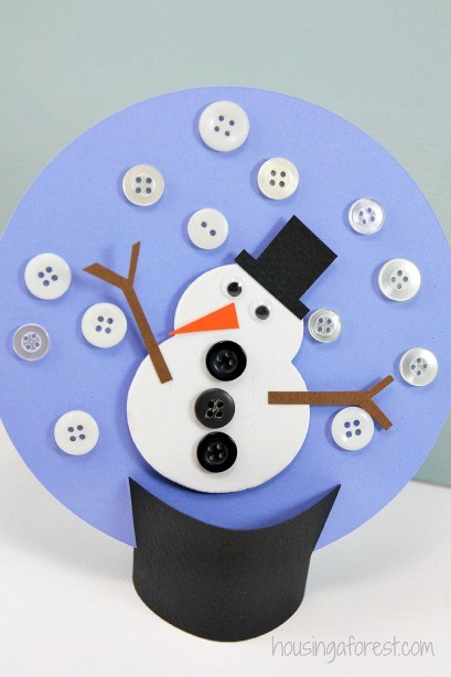 Winter Kids Craft ~ Paper Snow Globe