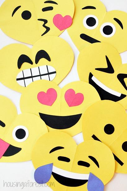Diy Emoji Valentines Housing A Forest