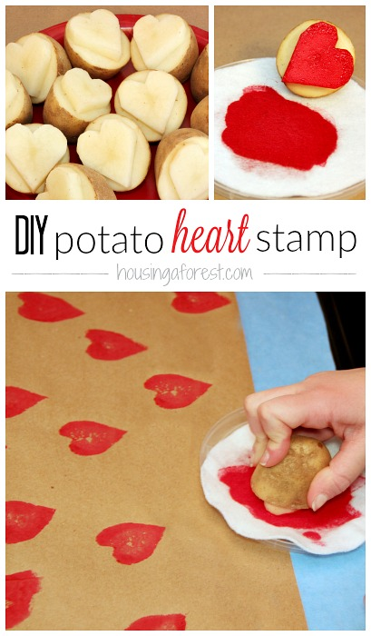 DIY Heart Potato Stamp - Fun Valentines Day Idea for Kids