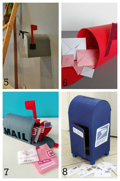DIY Mailboxes for Kids ~ pretend play mailboxes & DIY Mailboxes for Kids | Housing a Forest Aboutintivar.Com