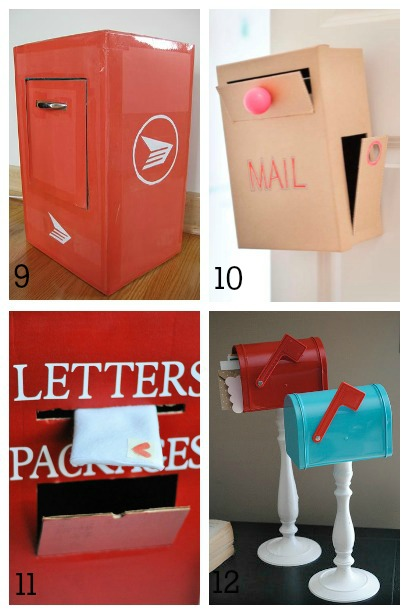 Diy mailboxes for kids housing a forest diy mailboxes for kids pretend play mailboxes solutioingenieria Image collections