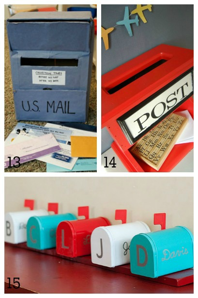 DIY Mailboxes for Kids ~ pretend play mailboxes