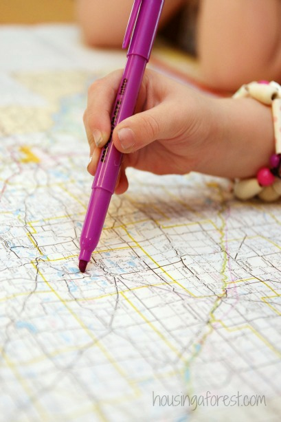 Introduction to Maps and Geography - Drawing on Road maps