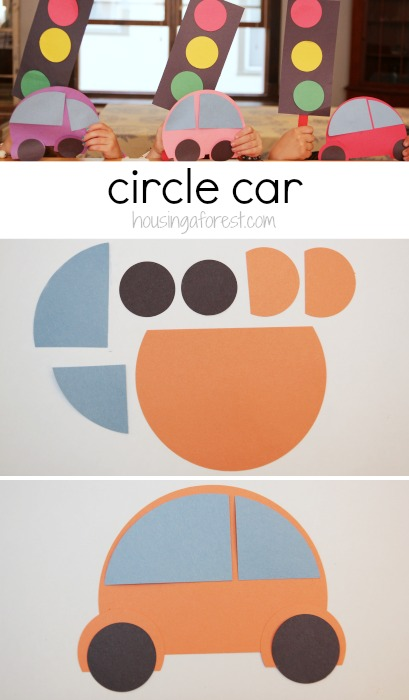 Preschool Transportation Theme ~ How to make a circle car
