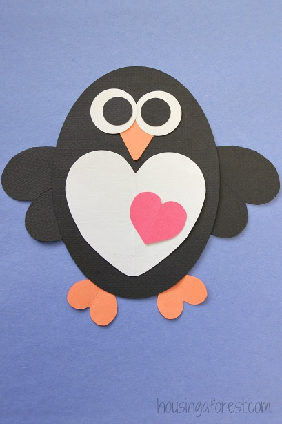 Valentines Craft Heart Penguin Craft For Kids