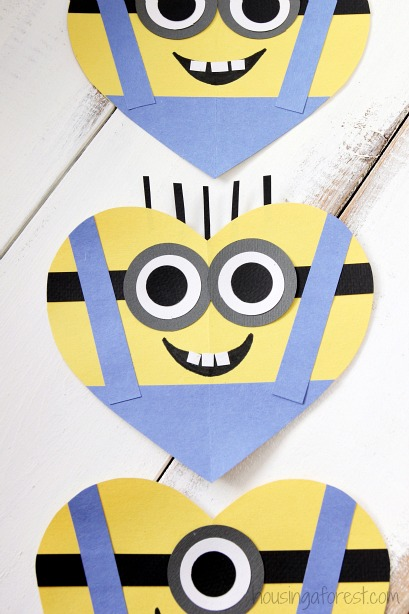 minion overall template - valentine s day heart minion craft housing a forest