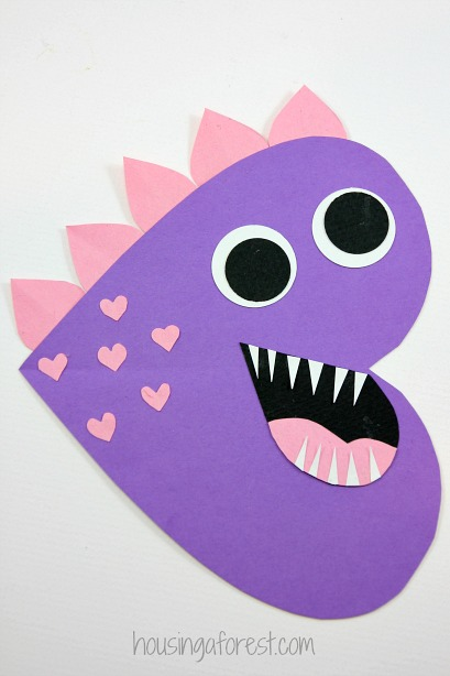 Heart Dinosaur   Valentines Craft For Kids