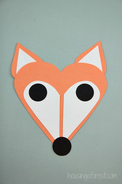 Heart fox craft housing a forest for Easy heart crafts