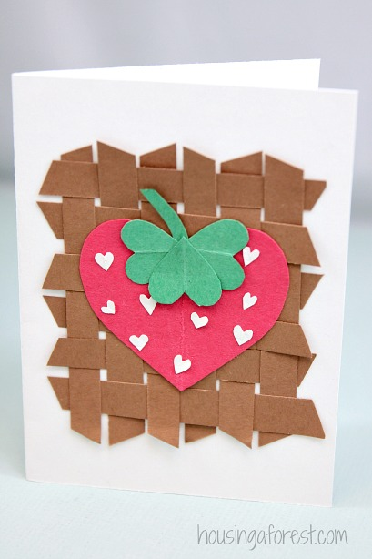 Heart Strawberry Card ~ Valentines Craft for Kids