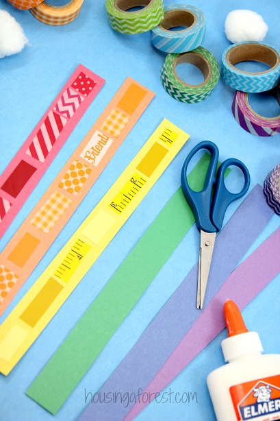 Washi Tape Rainbow Craft for Kids - St Patricks Day Craft