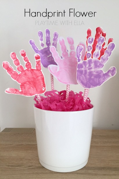 Handprint Flower Craft For Kids Housing A Forest