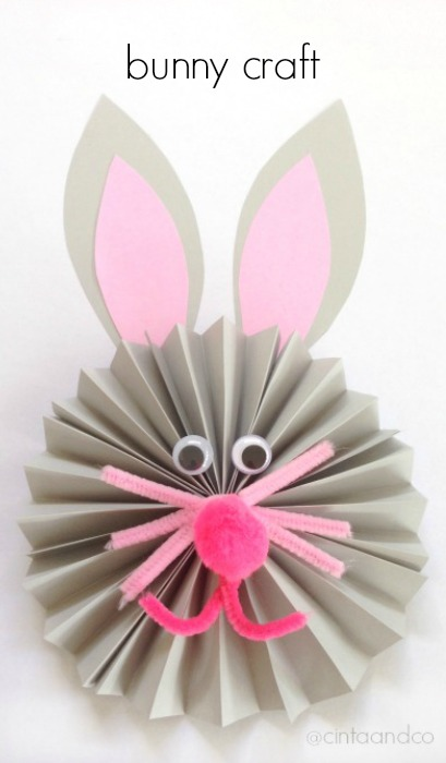 Paper Fan Bunny Craft Housing A Forest